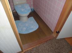 施工前のトイレのドア