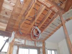 既存浴室天井解体
