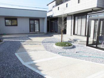 離れの仕事部屋増築と和風庭園の撤去・改修で大満足  大垣市熊野町古田様邸
